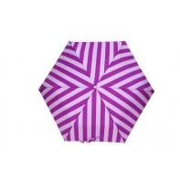 Parasolka automatyczna otwierana i zamykana jednym przyciskiem, w paski fioletowa
