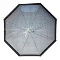 Parasolka przezroczysta z czarną lamówką