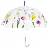 Wiosenna głęboka przezroczysta parasolka, fiolet
