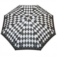 Automatyczna parasolka damska marki Parasol, szachownica