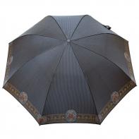 Satynowa automatyczna parasolka damska marki Parasol, szara
