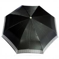 Satynowa automatyczna parasolka damska marki Parasol, podwójny biały labirynt