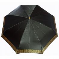 Satynowa automatyczna parasolka damska marki Parasol, podwójny złoty labirynt