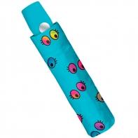 Automatyczna parasolka w kolorowe oczka, niebieska