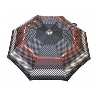 Automatyczna parasolka damska marki Parasol, trójkąty brązowe