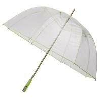Duża przezroczysta parasolka FALCONE z zielonym stelażem