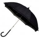 Romantyczna koronkowa parasolka w stylu retro w kolorze czarnym