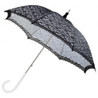 Romantyczna koronkowa parasolka w stylu retro w kolorze biało - czarnym