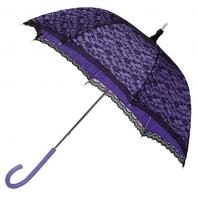 Romantyczna koronkowa parasolka w stylu retro w kolorze fioletowo - czarnym