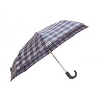 Męska parasolka w kratkę składana i otwierana automatycznie