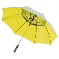 Duży parasol przeciwsłoneczny z wentylatorem, pomarańcz