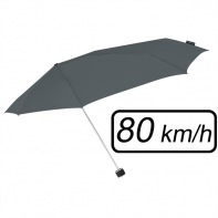 Mała sztormowa parasolka damska 80 km/h, szara