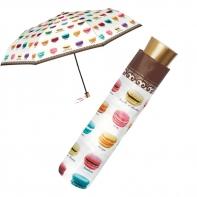Mała składana na 3 parasolka w ciastka makaroniki