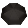 Czarna automatyczna parasolka męska marki Parasol z drewnianą rączką