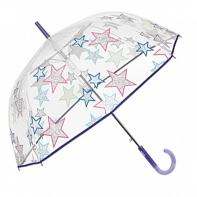 Głęboka przezroczysta parasolka w gwiazdki