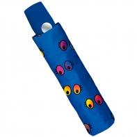 Automatyczna parasolka w kolorowe oczka, granatowa