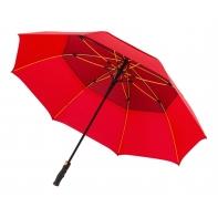 Automatyczny bardzo duży XXL niezwykle mocny parasol czerwony