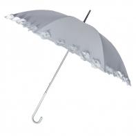 Ekskluzywna biała parasolka ślubna Vogue z perełkami