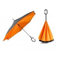 """Parasol odwrócony """"Revers"""" w kolorze pomarańczowym"""