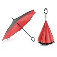 """Parasol odwrócony """"Revers"""" w kolorze czerwonym"""