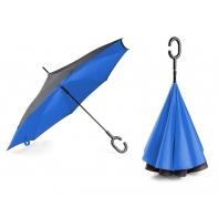 """Parasol odwrócony """"Revers"""" w kolorze niebieskim"""