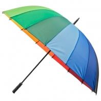 Bardzo duża wytrzymała parasolka, tęcza