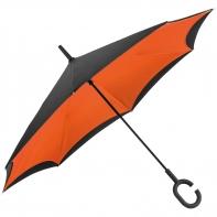 """Parasol odwrócony """"Revers"""" pomarańczowo czarny"""