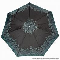 Kieszonkowa składana na 5 czarna we wzorek parasolka damska marki Parasol