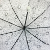 Automatyczna parasolka damska Tiros w krople, biała