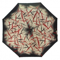 Automatyczna parasolka damska Tiros, abstrakcyjny wzór