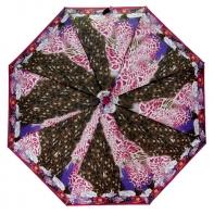 Automatyczna parasolka damska Tiros, wielokolorowa panterka