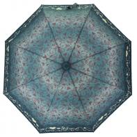 Automatyczna parasolka damska Tiros, niebieska w kwiatki