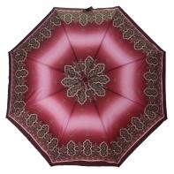 Automatyczna parasolka damska Tiros, różowa z ornamentami