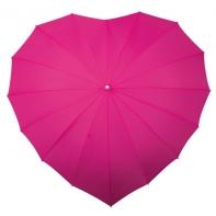 Różowa parasolka w kształcie serca
