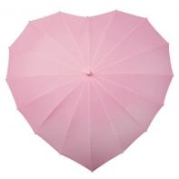 Jasnoróżowa parasolka w kształcie serca