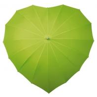 Zielona parasolka w kształcie serca