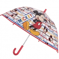Dziecięca głęboka parasolka z motywem Myszki Mickey, czerwona