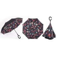 """Parasol odwrócony """"Revers"""" w różnokolorowe róże"""