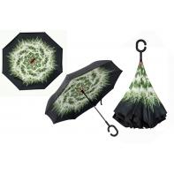 """Parasol odwrócony """"Revers"""" z zielonym dmuchawcem"""