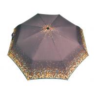 Automatyczna parasolka damska marki Parasol, brązowa w trójkąty