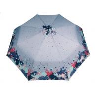 Automatyczna parasolka damska marki Parasol, szara w plamy