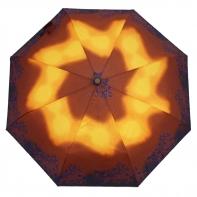 Automatyczna parasolka damska Tiros, niebieski ornament