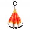 """Parasol odwrócony """"Revers"""" z pomarańczowym kwiatem"""