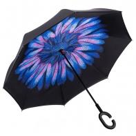 """Parasol odwrócony """"Revers"""" z kwiatem w kroplach"""