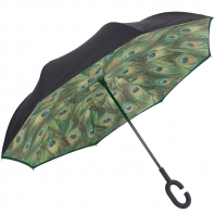 """Parasol odwrócony """"Revers"""" w pawie pióra"""