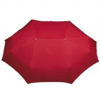 Szeroka podwójna parasolka w kolorze czerwonym