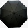Czarna automatyczna parasolka męska ze skórzaną rączką marki Parasol