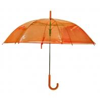 Parasolka przezroczysta pomarańczowa