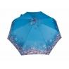 Automatyczna parasolka damska marki Parasol, niebieska w kwiatuszki