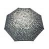 Automatyczna parasolka damska marki Parasol, szara w trójkąty